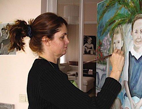 Rome, artist, portraits, Jessica Ricci, Rochelle Cheever