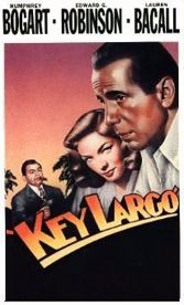 John Huston, Key Largo, Bogart, Bacall, gangsters, hurricane
