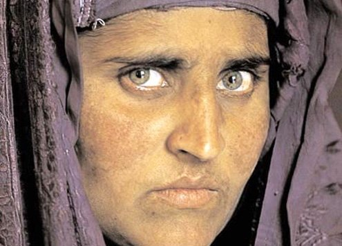 National Geographic's Pashtun woman, photographed at age 29 in 2002.