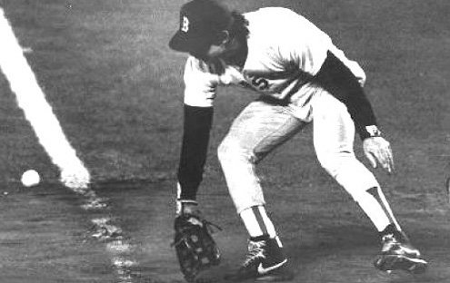 The miscue that cost the Red Sox the 1986 World Series.