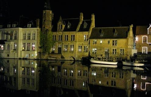 Bruges: A visual hodgepodge of charming façades..