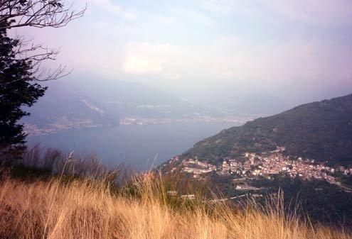 Hiking near Lake Como.