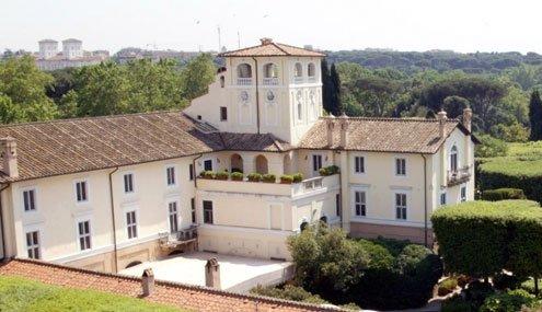 Villa Taverna, Rome: Where the tent is, a gazebo goes.