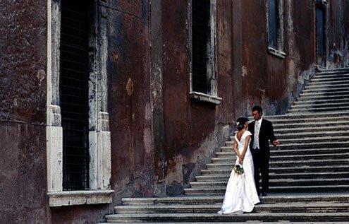 Wedding at Rome's Campidoglio, or city hall.