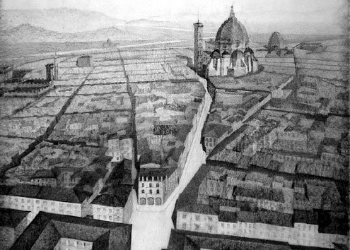 1930s plans to modernize Florence's Santa Croce neighborhood.