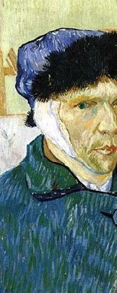 """Detail from Van Gogh's """"Self-Portrait with Damaged Ear"""""""