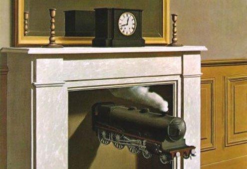 René Magritte: La Durée poignardée, 1938 (Time Transfixed)