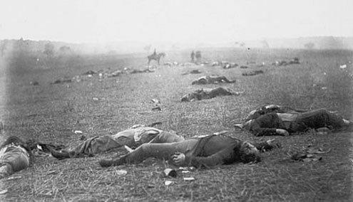 Antietam Confederate dead following the battle.