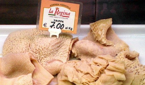 Tripe is an animal's stomach lining.