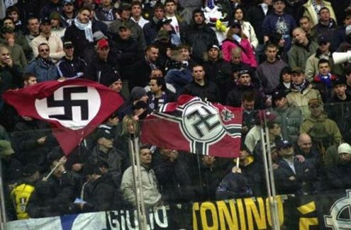 Fans during a recent Lazio-Livorno match.