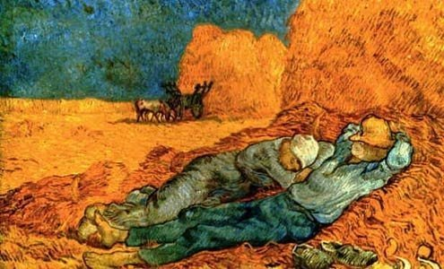 "Detail from Van Gogh's ""Noon: Rest From Work (After Millet),"" 1890"