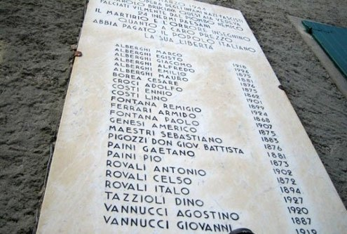 71 died in Monchio, 34 in Costrignano and 24 in Susano, with seven others also killed.
