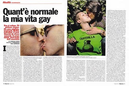 My 'normal' gay life... reads the headline.