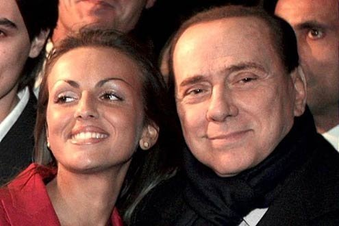 Berlusconi, 76, and his fiancée Francesca Pascale.