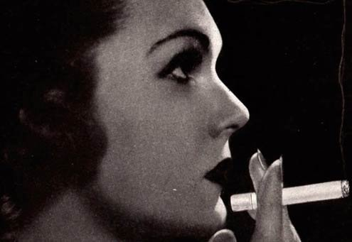 Detail from a 1930 Marlboro ad.