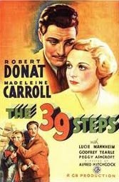 "In his 1935 ""The 39 Steps,"" based on John Buchan's novel, Alfred Hitchcock demonstrates an early knack."
