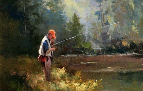 Fishing is much ado about patience, and silence.