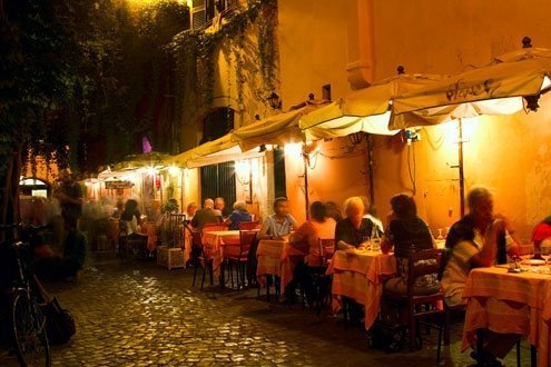 Romans settled Trastevere between 750 and 500 B.C.