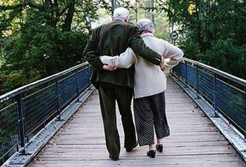 Handholding after half-a-century together.