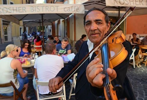 Many street musicians aren't even Italian.