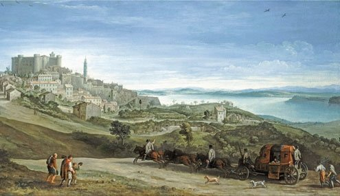 "Paul Brill, ""View of Bracciano,"" 1620 circa."