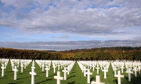 American cemeteries tend to be more monumental that their European counterparts.