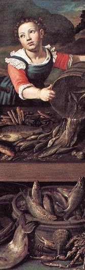 Detail from a painting by Vincenzo Campi.