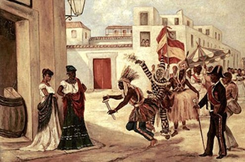 Many customs were carried from Africa to Cuba.