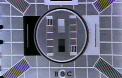 BBC test card in the 1960s.