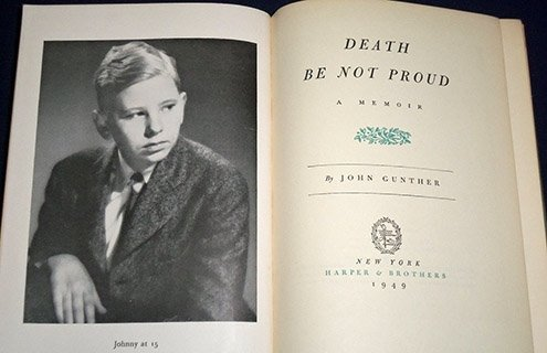 Memories of his son Jimmy, who died of a brain tumor.