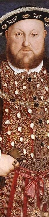 Detail from a portrait by Hans Holbein.