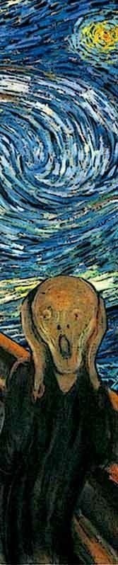 "Detail from Van Gogh's ""The Scream."""